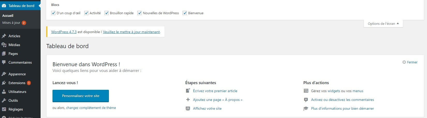wordpress-tableau-de-bord