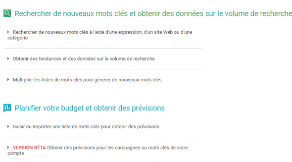 Configurer Google Adwords