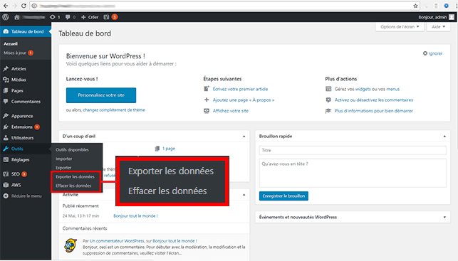 RGPD sur WordPress