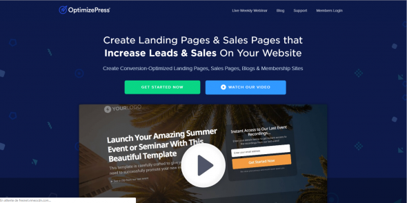 Landing page sur WordPress