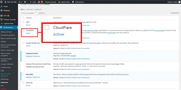 Optimiser WordPress avec Cloudflare