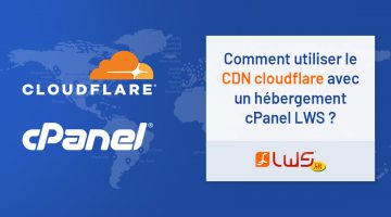 hebergement cpanel LWS : CDN cloudflare