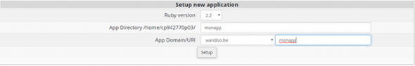 installer une application Ruby