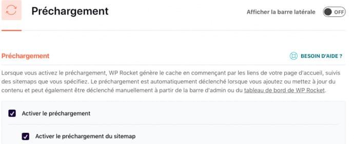chargement site web