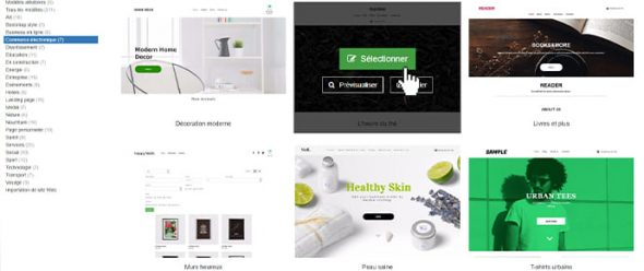 Templates sites ecommerce simples